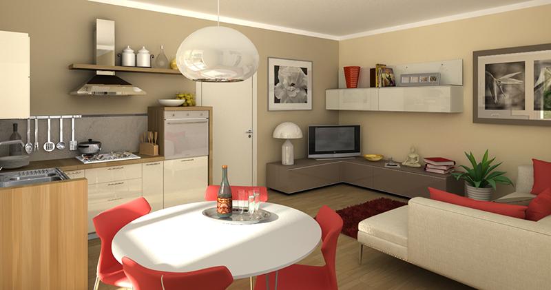 Studio di interni di due appartamenti alice terzi studio for Interni di appartamenti
